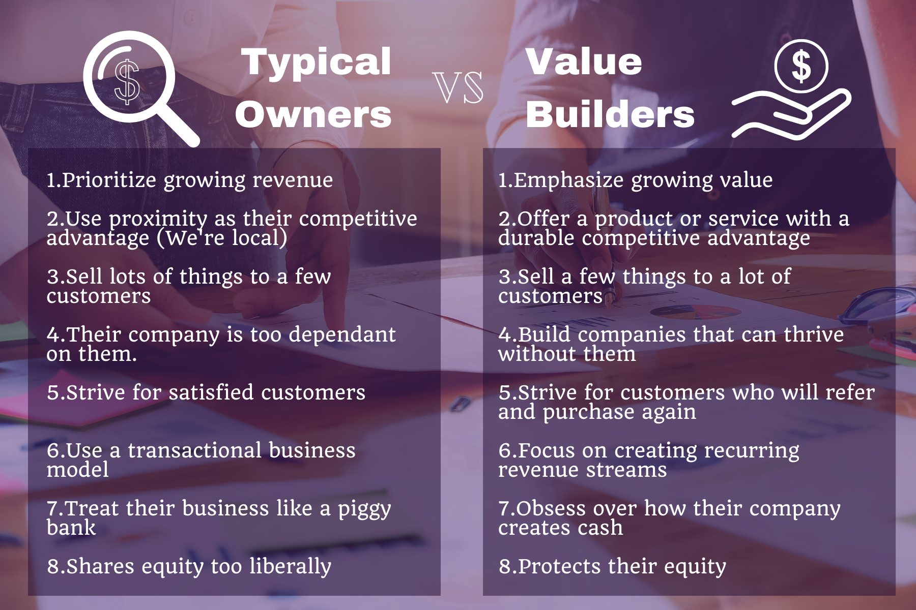 Typical Business vs Value Builder